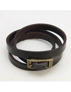 Mode læderarmbånd Wrap stil 8,5mm bredt