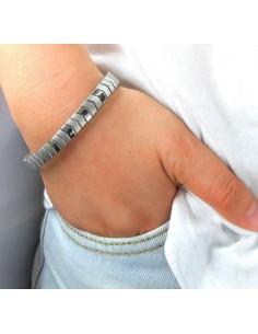Flexibelt rustfri stål magnetarmbånd med kobber Flex3