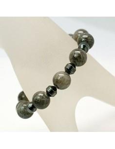 Hematite magnetarmbånd med jade sten og magnetlås