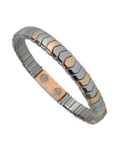 Flexibelt rustfri stål magnetarmbånd med kobber Flex13