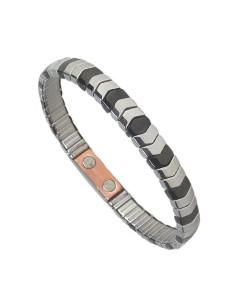 Flexibelt rustfri stål magnetarmbånd med kobber Flex4