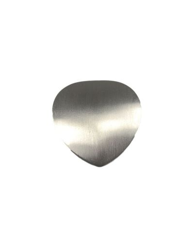 Løs Børstet sølvfarvet skjold til Powermagnet Hjerte