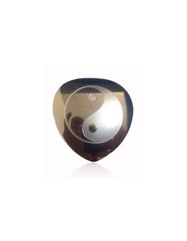 Løs ying & yang sølfarvet skjold til Powermagnet Hjerte
