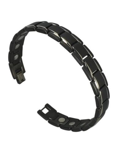 Magnetarmbånd I-Energy Titanium Sort/Sølv 8262BSM
