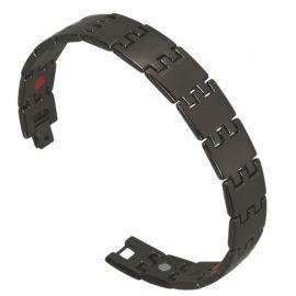 I-Energy rustfri stål 3i1 Magnetarmbånd Sortplatineret Get02B