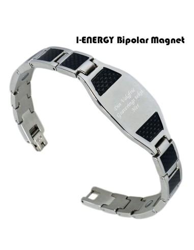 Bipolar magnetarmbånd Cabon fiber (graveret) S-421
