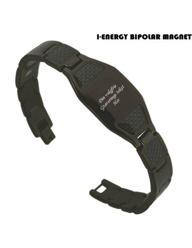 Bipolar magnetarmbånd Cabon fiber (graveret) S-421B