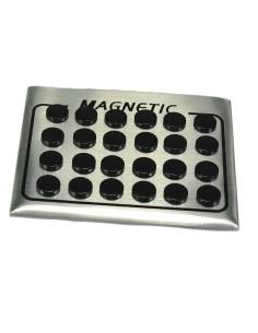 Magnetøreringe sortplatineret rustfri stål