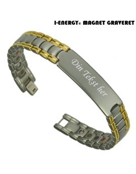 Magnetarmbånd I-Energy Titanium model 8223GM (Graveret)