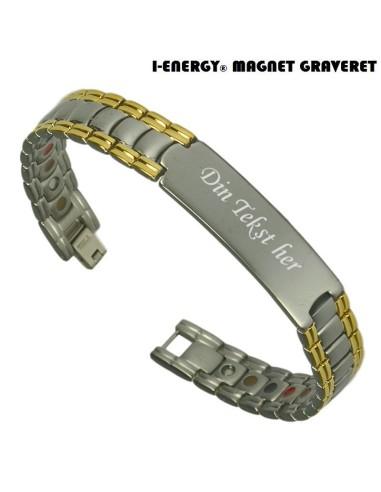 Magnetarmbånd I-Energy Titanium model 8223GM (Graveret)
