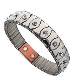 Flexibelt rustfri stål magnetarmbånd med kobber Flex10