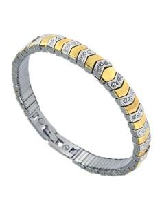 Flexibelt rustfri stål magnetarmbånd med kobber Flex 14