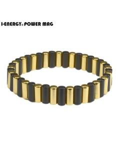 Power Mag Cylinder Magnetarmbåd sort/guld platineret MAG01BG