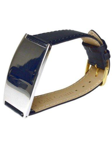 I-Energy 5i1 Mirror Steel sort læder magnetarmbånd model 8700