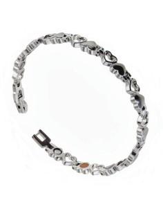 I-Energy 5i1 Rustfri stål magnetarmbånd/ankelkæde sølvfarvet 8232