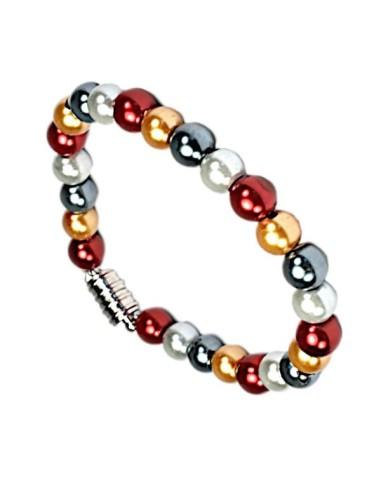 Hematite 4 farvet magnetarmbånd med 6mm beads