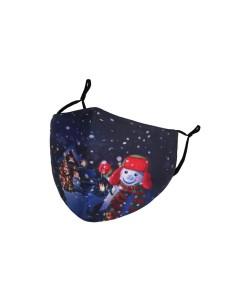 Genanvendelig Bomulds mundbind jule motiv med øre elastikker.