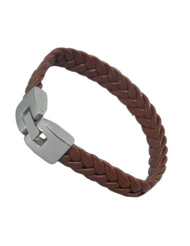 Sobon PU flettet læder armbånd