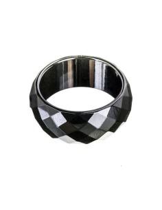 Hematite Facet sleben magnetisk ring 10mm bred