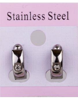 Click on Hoop ørreringe (ikke magnetisk) Sølvfarvet